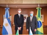 Canciller Solá con embajador Danese