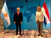 Felipe Solá con su par de Países Bajos, Sigrid Kaag