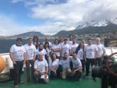 Los científicos argentinos y chilenos que realizan la campaña