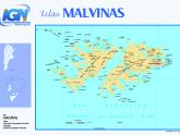 Mapa Islas Malvinas