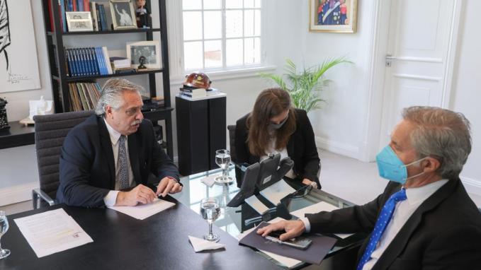 Diálogo de los presidentes Alberto Fernández y Vladímir