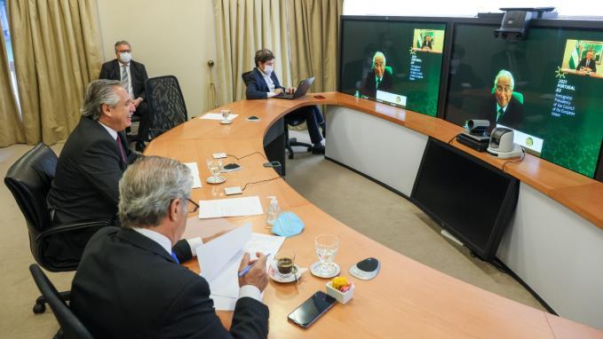 Videconferencia con Portugal