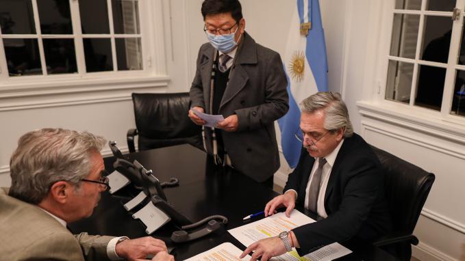 Alberto Fernández y Felipe Solá
