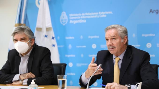 Agujero Azul_Daniel Filmus y Canciller Felipe Solá
