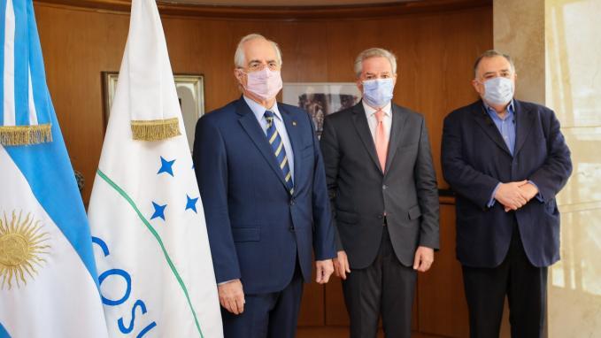 Felipe Solá_Reunión con Jorge Taiana y Eduardo Valdés
