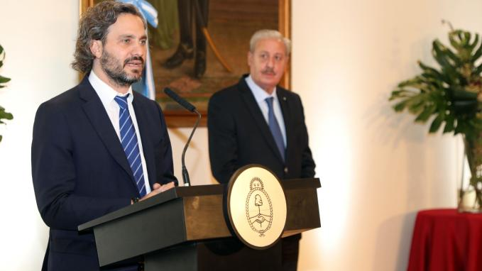Canciller Cafiero y Guillermo Oliveri, Secretraio de Culto