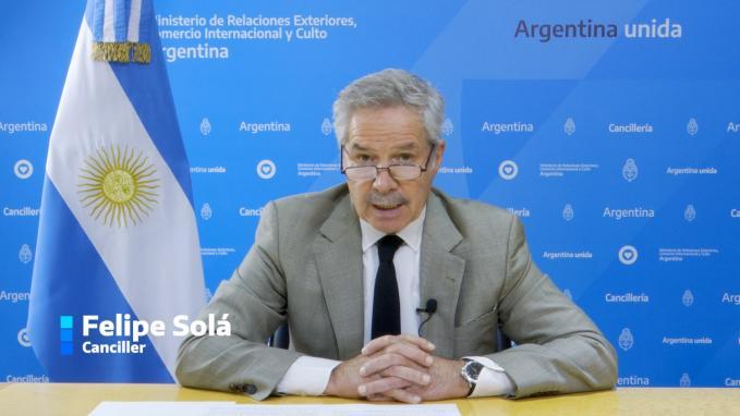 Canciller Felipe Solá