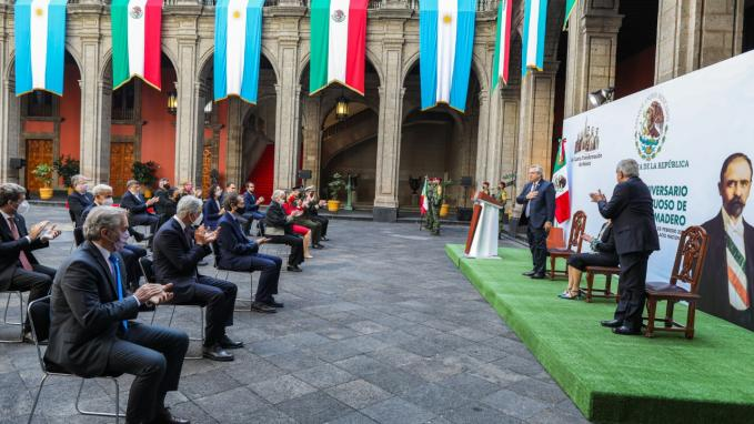 Presidentes Alberto Fernández y A. M. López Obrador