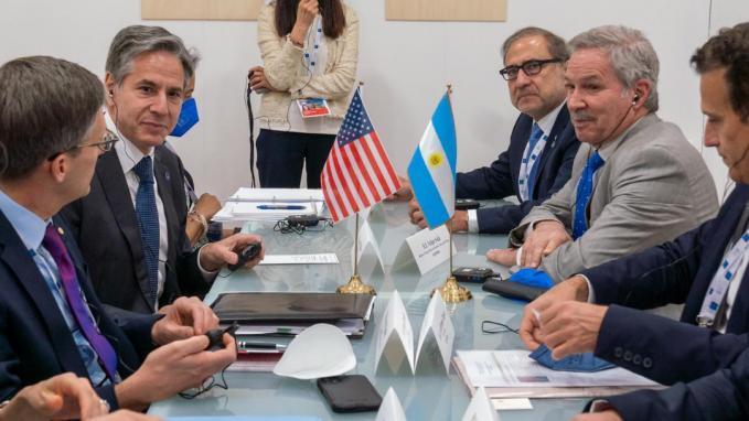 Felipe Solá con Antony_Bilateral en el G20