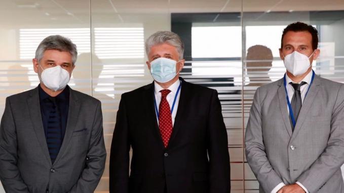 Daniel Filmus, Guillermo Chaves y Miroslav Jenča_ONU