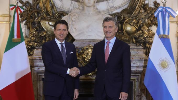 El Presidente Macri recibió al Primer Ministro de Italia, Giuseppe Conte