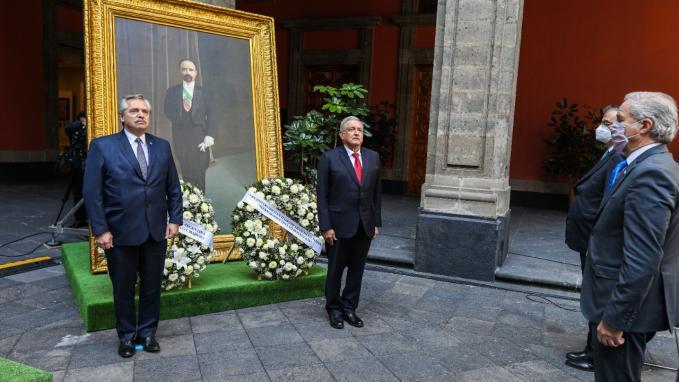 Presidentes Fernández y López Obrador