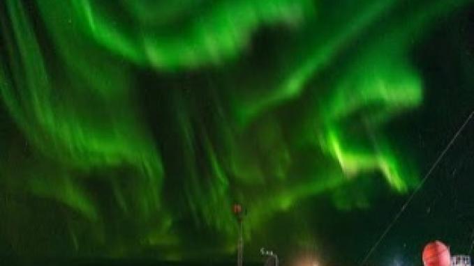 Auroras australes en Base Belgrano II